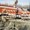 Hazco Environmental moved the nozzle back and forth to saturate the surface area of the excavated hole